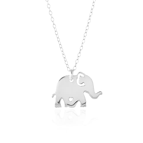 Amazon elephant necklace a sterling silver elephant necklace elephant necklace a sterling silver elephant necklace 58quot elephant jewelry aloadofball Image collections