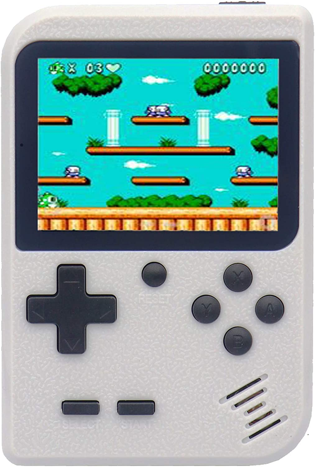 RFiotasy Retro Game Machine Handheld Game Console with 400 Classical FC Game ConsoleSupport for Connecting TV Gift Birthday for Kids and Adult (YJ-White)