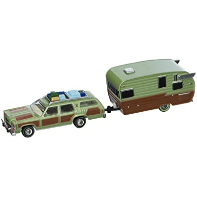 1979 Family Truckster Wagon Queen National Lampoon's Vacation (1983) with Shasta 15' Airflyte Trailer Hitch & Tow 1/64 by Greenlight 51036: Toys & Games