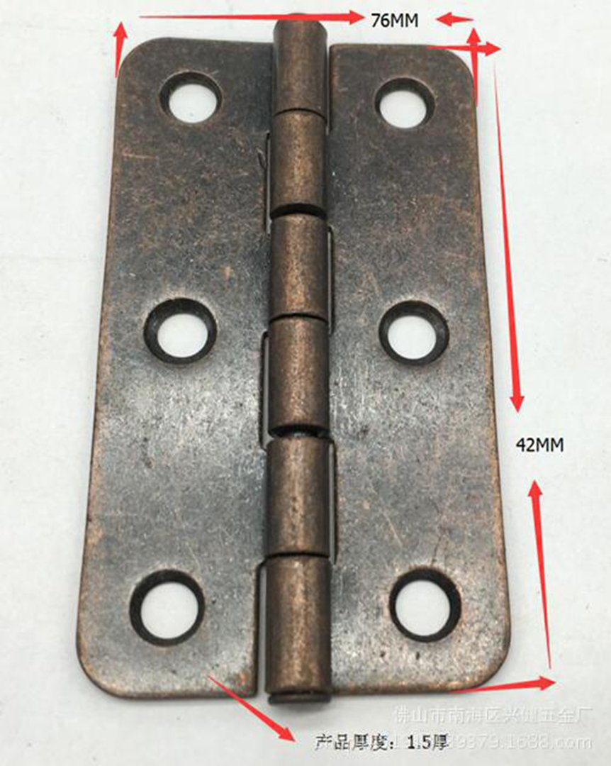 Pack of 10 HorBous 4* 4 Quincaillerie Charni/ères en acier inoxydable pour la porte de porte Gate Gate Box etc.