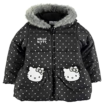 1bed24e64 Hello Kitty Padded Coat Infant Girls Black Jacket Outerwear 3-4 Years