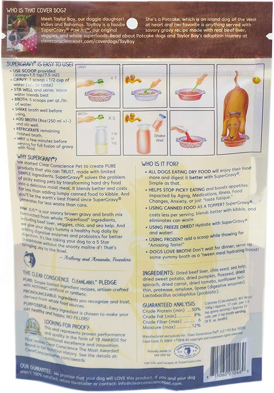 SuperGravy Bundle - Natural Dog Food Gravy Topper - Hydration Broth Food Mix - Human Grade – Kibble Seasoning for Picky Eaters – Gluten Free & Grain Free 2