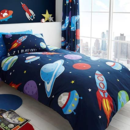 GAVENO CAVAILIA Outer Space UK Single/US Twin Duvet Cover and Pillowcase Set