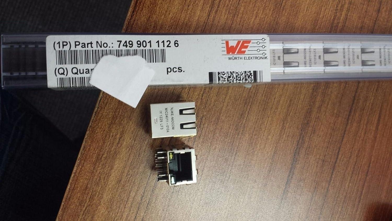5X WURTH ELEKTRONIK MIDCOM 7499011126 MIC24011-0104 RJ45 W