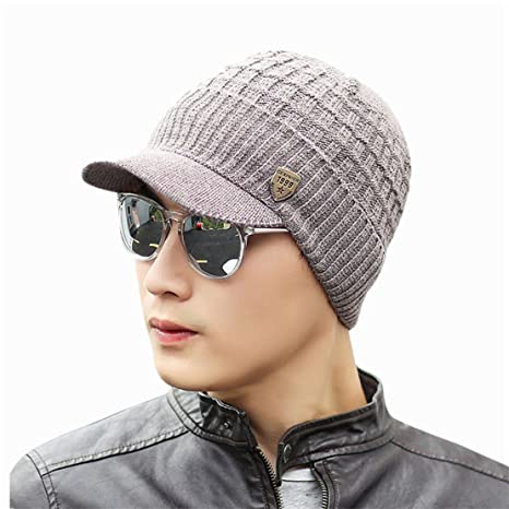 Bluestercool Berretto Invernale Uomo Con Visiera Cappelli Uomo Cotone  Eleganti ... e58825d88ac8