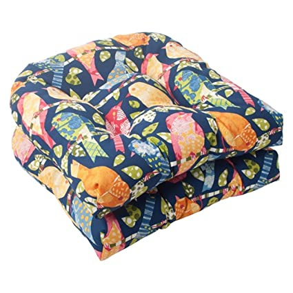 Amazon Com Set Of 2 Solarium Colorful Bird Watchers Outdoor Tufted