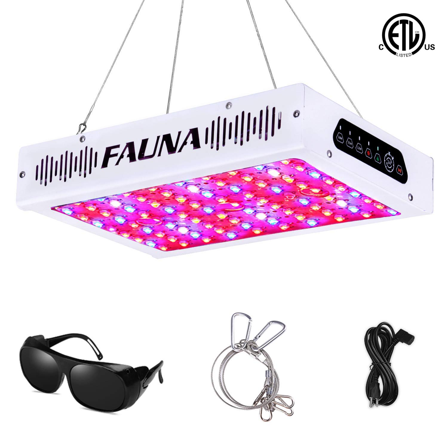 Timer Control 1000W LED Grow Light Full Spectrum 12 15 18 Hours Auto On Off with UV IR Plant Light for Indoor Plants Veg and Flower 1000W