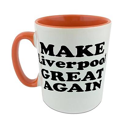 Hacer Liverpool gran nuevo taza con naranja perchero de pared de interior