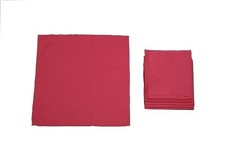 Pack 12 SERVILLETAS, 100%algodón, 45x45cm, calidad superior (GRANATE).