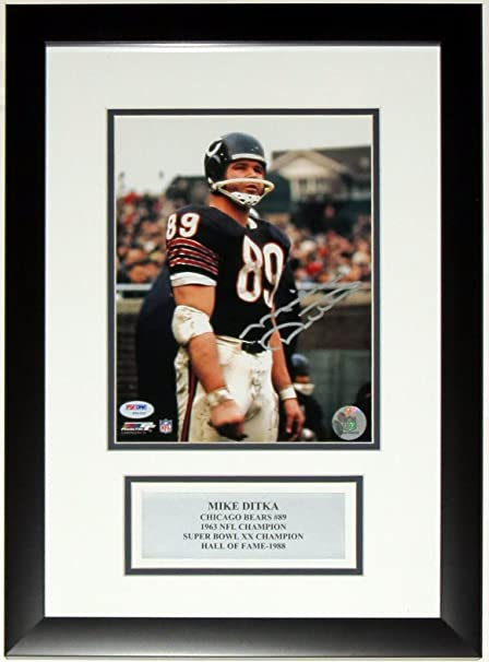 f4163f4b3 Mike Ditka Signed Chicago Bears 8x10 Photo - PSA DNA COA Authenticated - Custom  Framed
