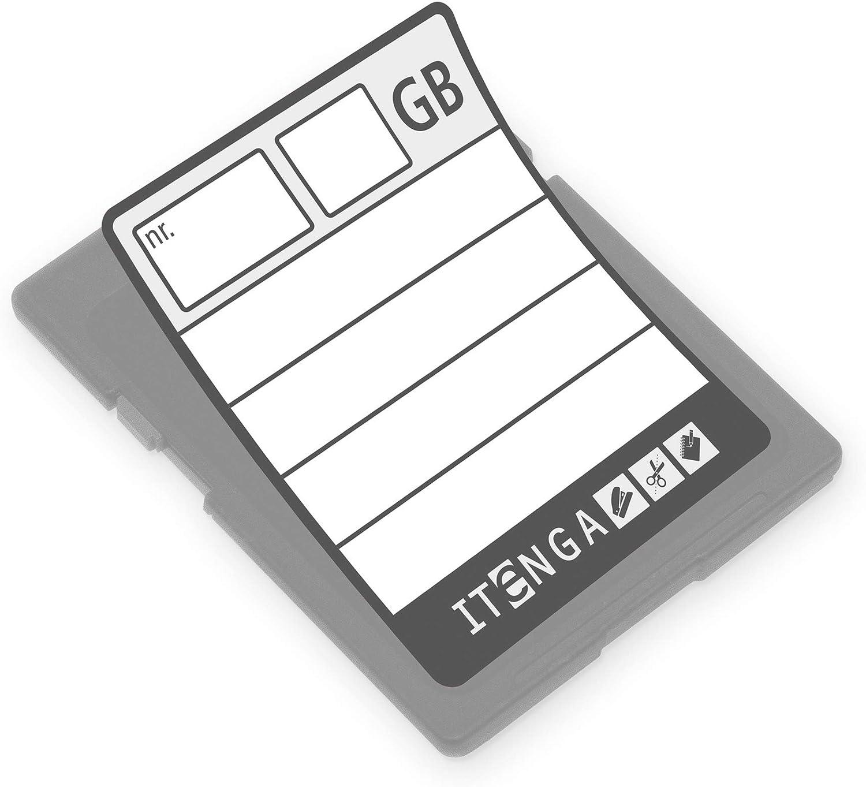 Itenga 24 X Etikett Aufkleber Sticker Für Sd Speicherkarte 20 X 25 Mm Zur Archivierung Ordnung Sortierung Küche Haushalt