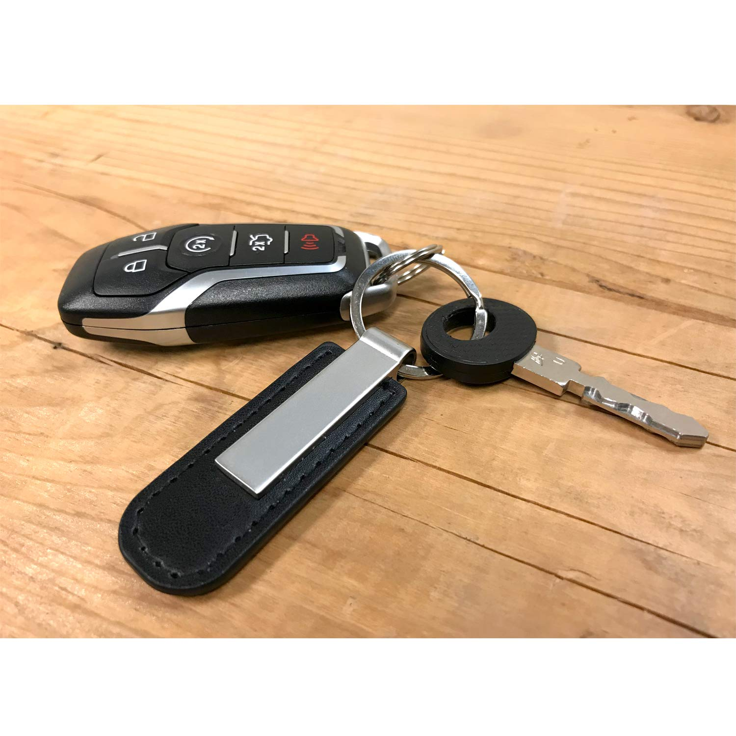 Ford Black Leather Strap Key Chain iPick Image Escape