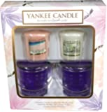 Official Yankee Candle Votive Gift Set Includes 2 Candles & 2 Holders