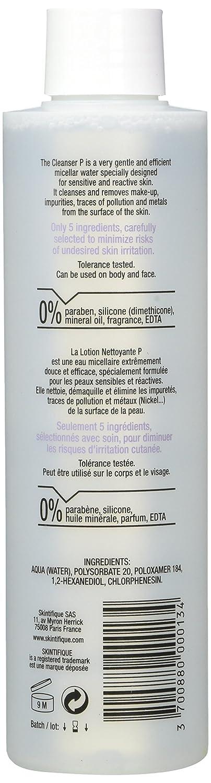 Loción limpiadora P (200ml) - Muy segura y con agua micelar pura. Limpia, elimina el maquillaje, purifica suavemente. Elimina impurezas, rastros de ...