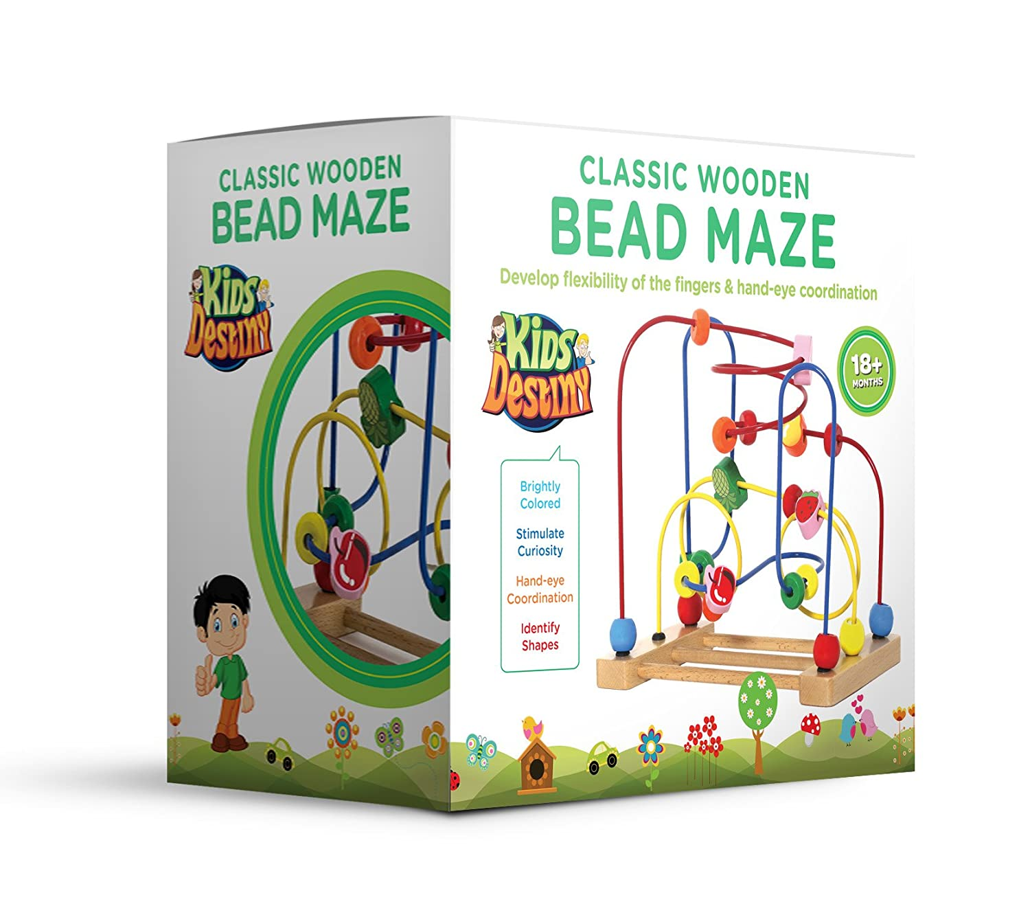Amazon Kids Destiny Classic Bead Maze Wooden Toys for Kids