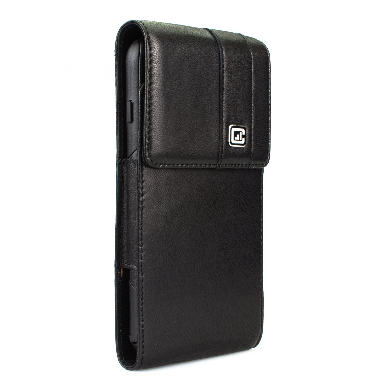 [NEW Gorilla Clip] CASE123 MPS Mk II TL Premium Genuine Lambskin Large Oversized Vertical Swivel Belt Clip Holster for Apple iPhone 6 / 6s / 7 Plus for use with Otterbox Commuter/Symmetry,Speck,Spigen