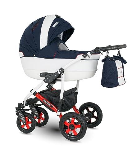 Lux4kids Cochecito 3 in 1 Silla de paseo + capazo + silla para coche + rutas