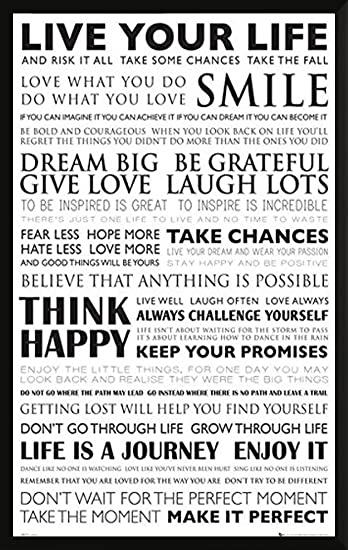 Amazon Live Your Life Inspirational Motivational Decorative Adorable Life Quote Poster