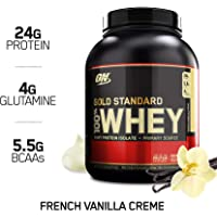 2 x Optimum Nutrition Gold Standard 100% Whey Protein Powder, French Vanilla Creme, 5 Pound