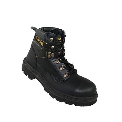 f08982830f5a Trucker Tesco S3 SRC Work Shoes Bauschuhe high Black B-Stock  Amazon ...