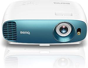BenQ TK800 True 4K UHD HDR Home Entertainment Projector, DLP, 3000 Lumens, HMDI, Football Mode - White/Blue