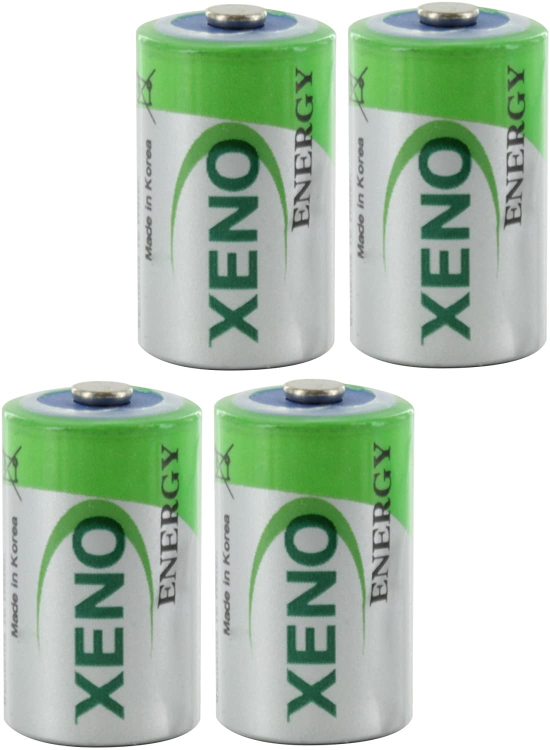 OmniCel ER14250 3.6V 1/2AA Lithium Standard Battery Button Top, 4 pack