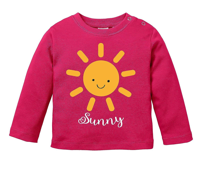 Niedliche Sonne mit Gesicht als Aufdruck Angry Shirts Sunny Motiv Baby Halstuch