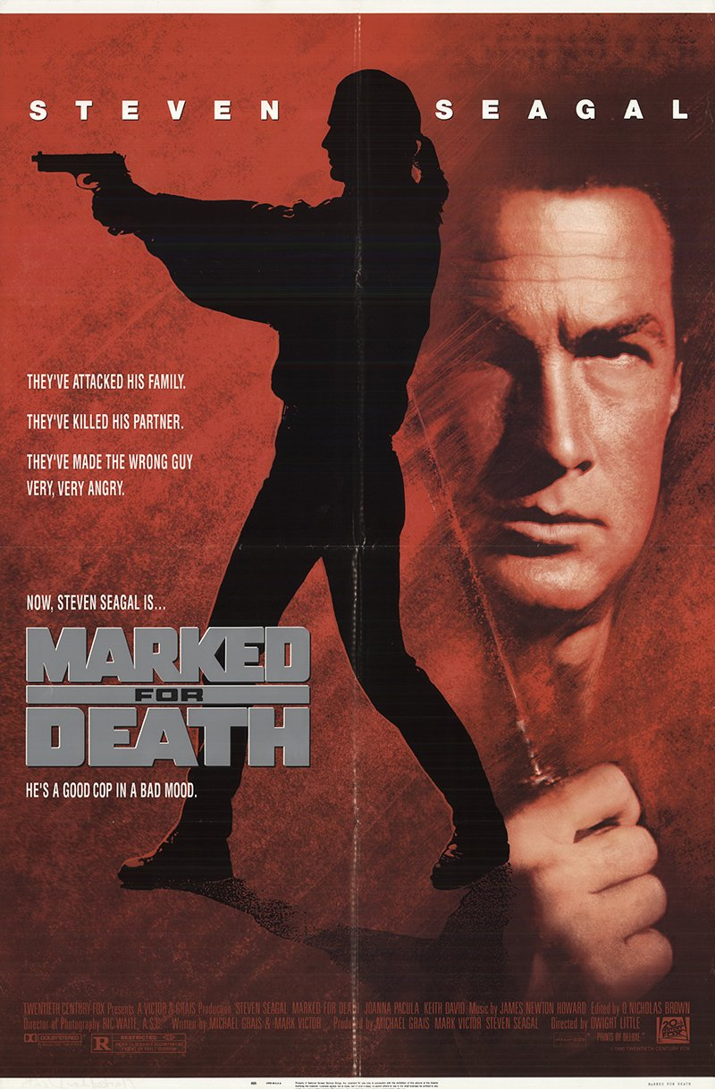 Marked For Death 1990 Authentic 27 X 41 Original Movie Poster Fine