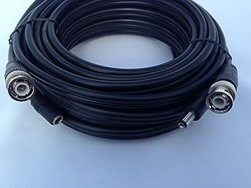 Cable Sourcing - 30m Pre-Hechos RG59 + 2 CCS, de Alto Rendimiento de