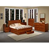 Amazon Com King Size Copper Creek Bedroom Set Dark Stain Western Rustic Kitchen Amp Dining