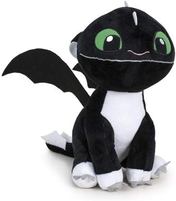 HTTYD Dragons, como Entrenar a tu dragón - Peluche Bebe Dragon Negro de Ojos Verdes 10