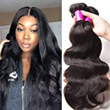 Ali Julia Hair Brazilian Virgin Body Wave Weave 7A Grade 100% Unprocessed Human Hair Weft Extensions Natural Color 95-100g/pc