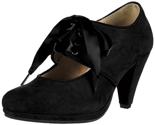 Andrea Conti0591504 - Zapatos de Tacón Mujer, Color Negro, Talla 36 EU