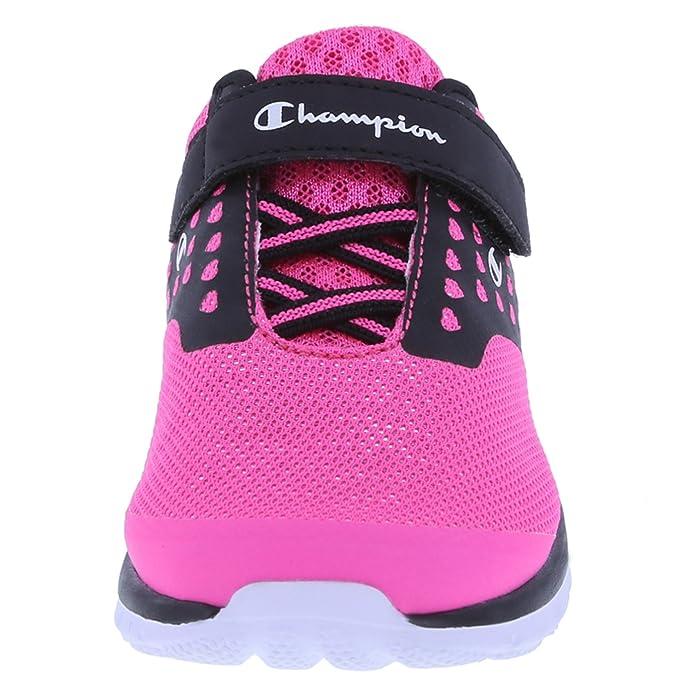 268fe3fe4547 Amazon.com  Champion Girls  Pink Black Heart Mesh Girls  Toddler Strap  Gusto Cross Trainer 7.5 Wide  Shoes