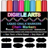 Rotuladores de Tiza Líquida, DIGIELE 8 Llamativos Colores