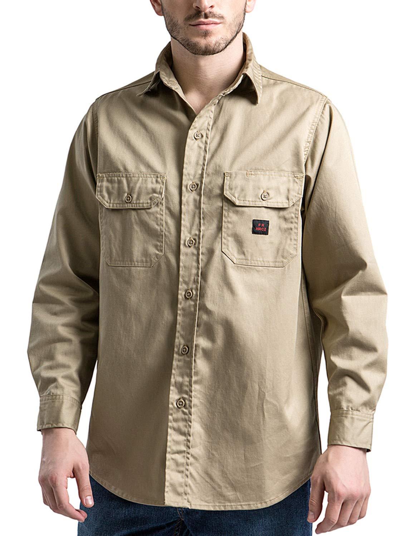 Titicaca FR Shirt Flame Resistant Men Cotton Lightweight Long Sleeve Navy shirt