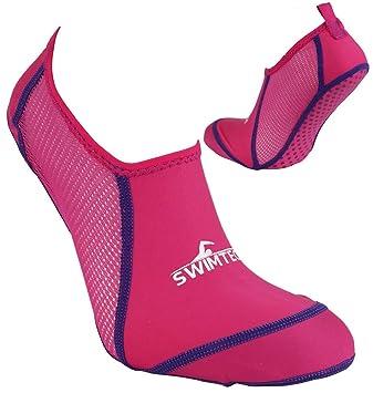 Calcetines antideslizantes transpirables para la piscina de Swimtech , rosa, Size 5-7: Amazon.es: Deportes y aire libre