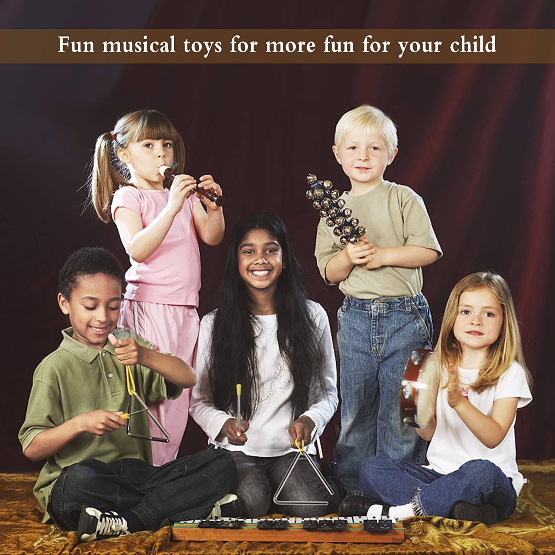 3Pcs de Instrumento de Tri/ángulo Musical Instrumento de Percusi/ón Infantil Triangulo Musical Triangulo Percusion Instrumentos Musicales para Educaci/ón Musical Temprana para Beb/és y Ni/ños