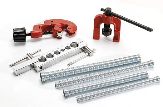 Cogex 54006 - Conjunto fontanero, tuberías resortes cortador/titular / torsión, set 6 piezas: Amazon.es: Bricolaje y herramientas