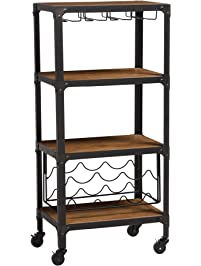Bar Amp Serving Carts Amazon Com