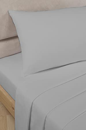 Bedding Heaven 2u0027 6u0026quot; Percale Fitted Sheet. GREY. Ideal For Bunk Bed