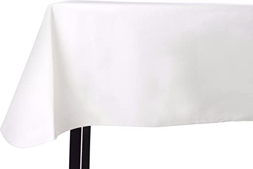 Amazon Com Yourtablecloth Heavy Duty Vinyl Rectangle Or Square Tablecloth 6 Gauge Heavy Duty Tablecloth Flannel Backed Wipeable Tablecloth With Vivid Colors Many Sizes 52 X 52 White Kitchen Dining