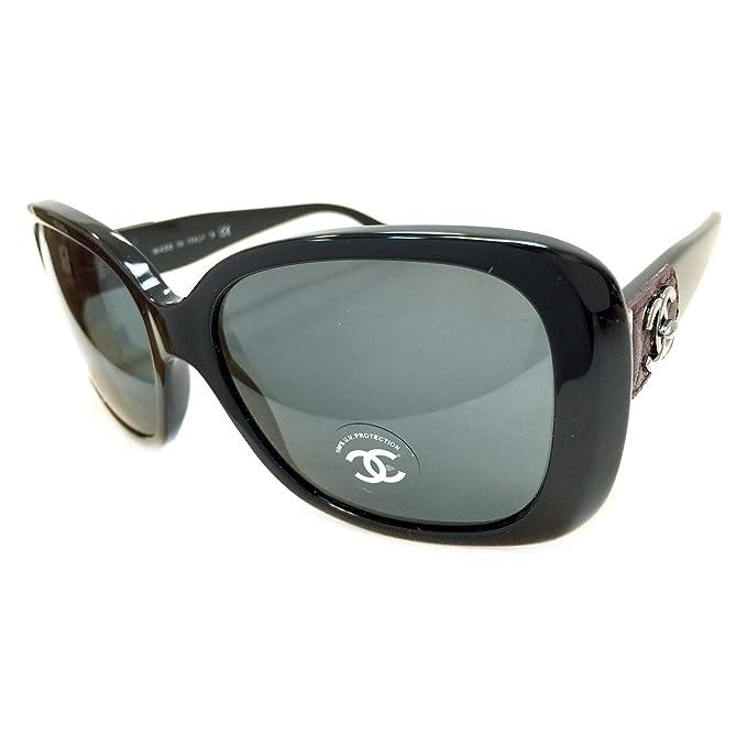 c34b2f623e7b5d Chanel 5234Q Sunglasses Color 501/3F Black Size 57MM: Amazon.ca: Clothing &  Accessories