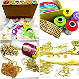 Silk thread jewelery-making fully loaded box with all accessories