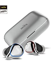 Mifo Wireless Earbuds, O5 Bluetooth 5 IPX7 Waterproof Bluetooth Earbuds with 100 Hours Playtime, Hi-Fi Sound Wireless Headphones, Built-in Mic Bluetooth Earbuds with 2600mAH Portable Charging Case (Silver)