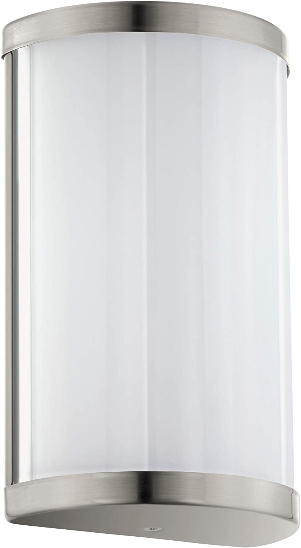 EGLO CUPELLA Wandleuchte, Stahl, 9 W, 11 x 18 cm, nickel
