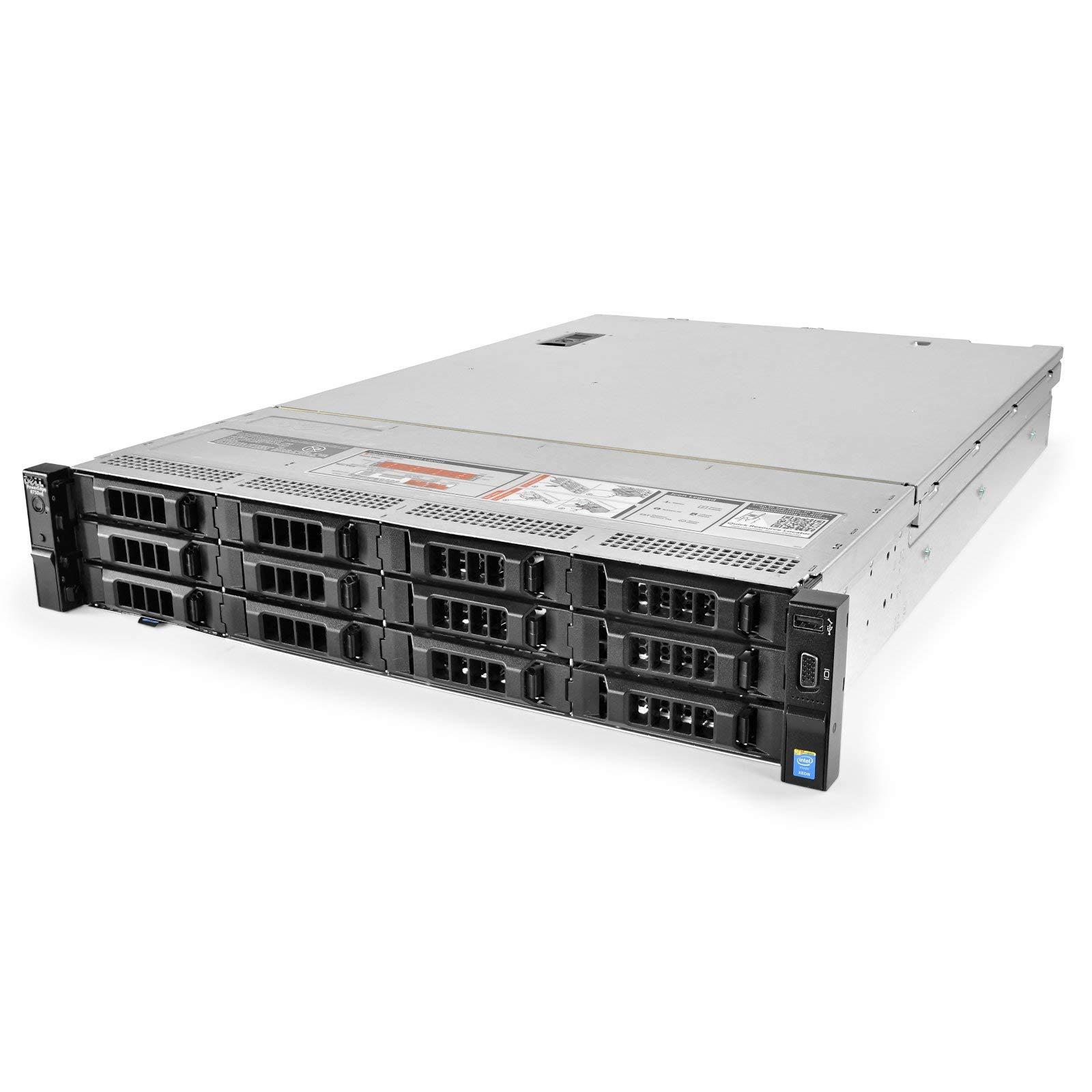 HP Proliant DL360 G9 4 Bays 3.5 Server 0TB - 1X 800W PSU NO HDD 48GB DDR4 REG Memory Renewed HP H240ar 12GB//S Raid Controller 2X Intel Xeon E5-2640 V3 2.6GHz 8 Core