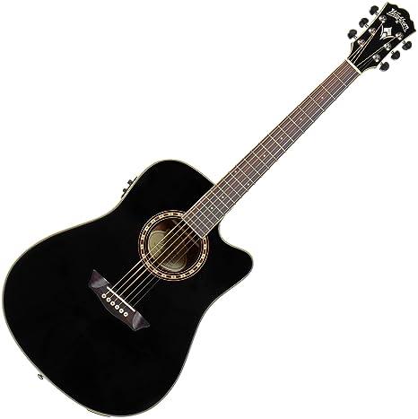 Washburn wd10sceb acabado mancha Sitka Spruce Top acústica guitarra eléctrica