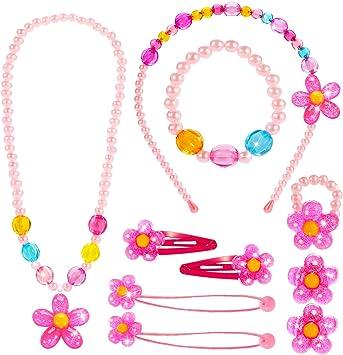 SUPER Carino Bambino Toddler ragazze Collana e Braccialetto perline set per feste