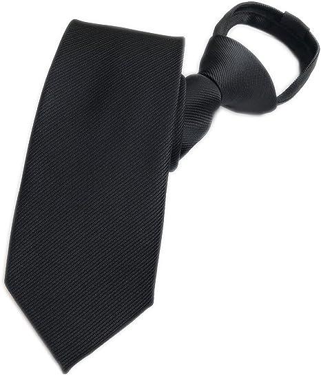 Men Striped Wide Zipper Tie Wedding Party High Quality Pre-tied Business Necktie